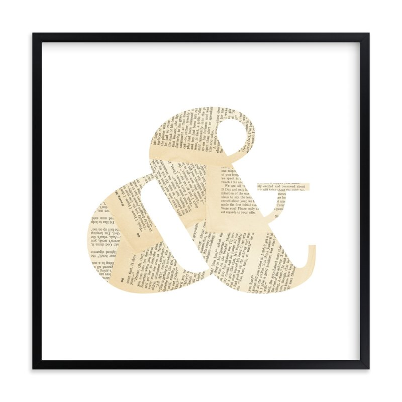 """""""& i love to read"""" - Art Print by Niki Digrigorio in beautiful frame options and a variety of sizes."""
