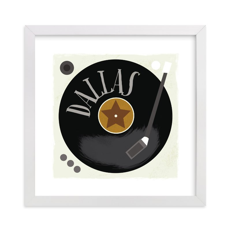 """""""Vinyl"""" - Children's Custom Art Print by JeAnna Casper in beautiful frame options and a variety of sizes."""