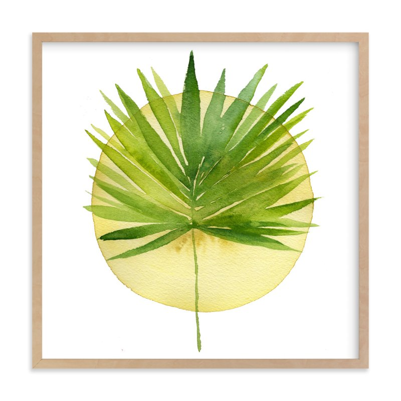 """spotlight - fan palm"" - Art Print by Kiana Mosley in beautiful frame options and a variety of sizes."