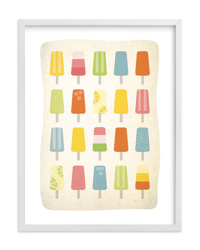 """Summer of Popsicles"" - Limited Edition Art Print by Heritage and Joy in beautiful frame options and a variety of sizes."