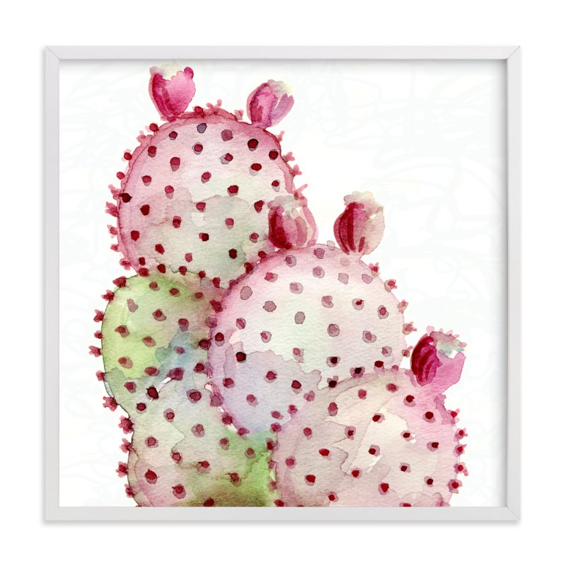 """Cactus Love One"" - Art Print by Me Amelia in beautiful frame options and a variety of sizes."