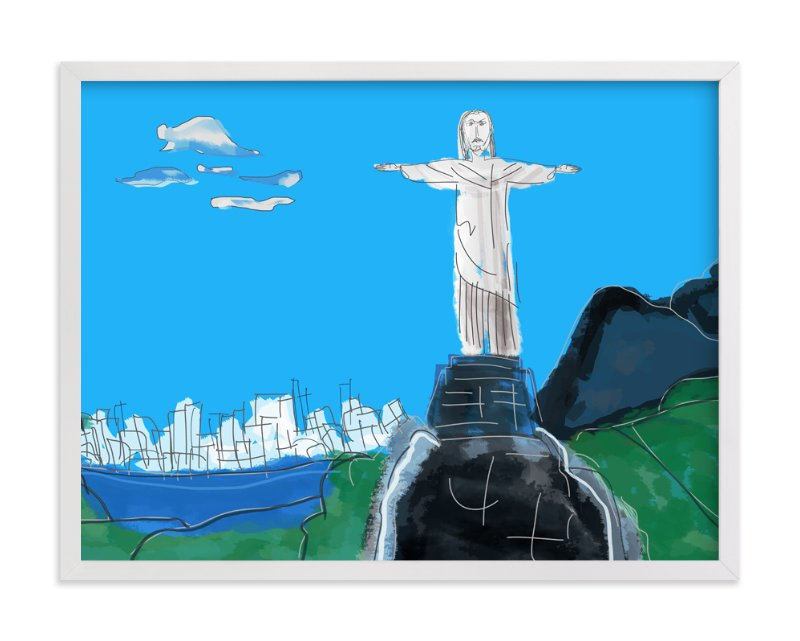 """""""The Redeemer, Rio"""" - Art Print by Stuart Heir in beautiful frame options and a variety of sizes."""