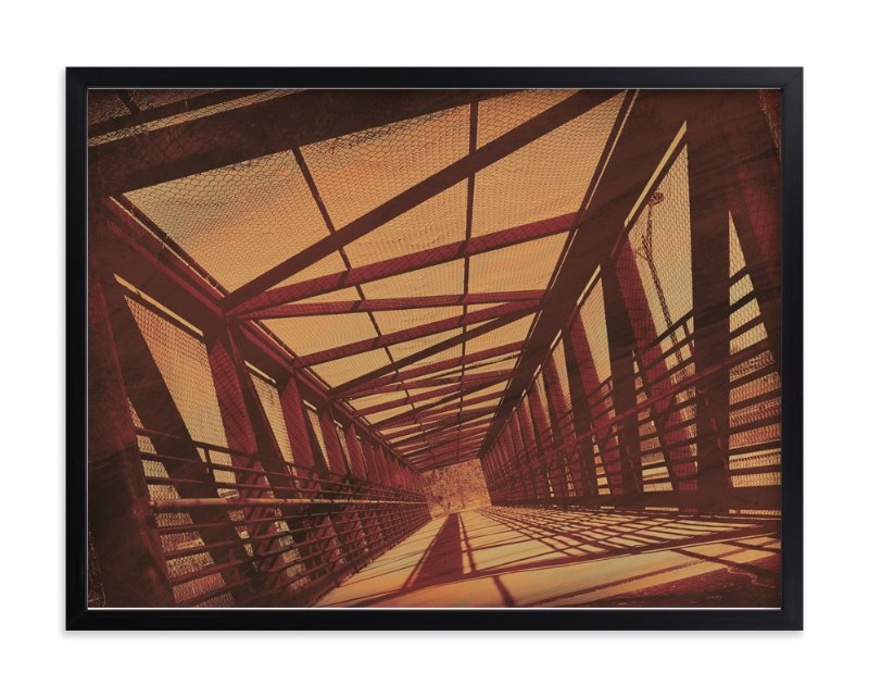 """a bridge perspective"" - Art Print by Anita Handy in beautiful frame options and a variety of sizes."