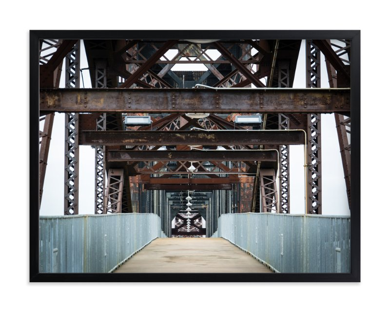 """Crossing"" - Art Print by Laura Bolter Design in beautiful frame options and a variety of sizes."