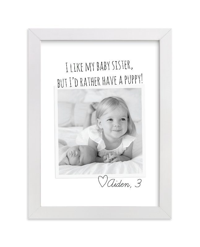 """""""Kid's Quote"""" - Children's Custom Photo Art Print by Jessie Steury in beautiful frame options and a variety of sizes."""