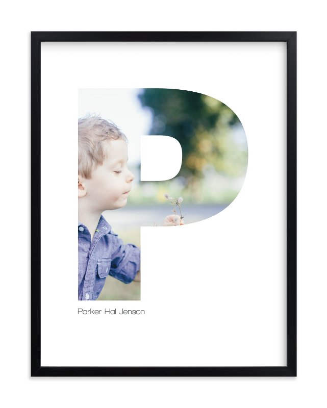 """P - Within Letters of You"" - Children's Custom Photo Art Print by Heather Francisco in beautiful frame options and a variety of sizes."