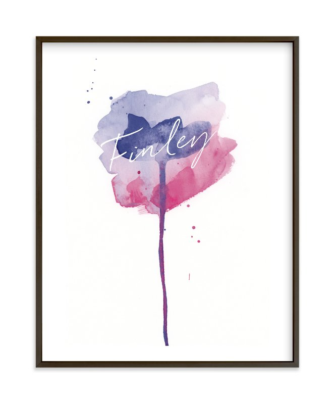 """""""Watercolor Flower"""" - Children's Custom Art Print by Lindsay Megahed in beautiful frame options and a variety of sizes."""