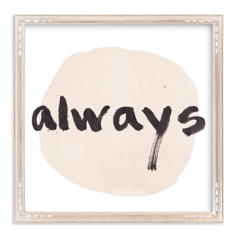 """Love Always"" - Art Print by Qing Ji in beautiful frame options and a variety of sizes."
