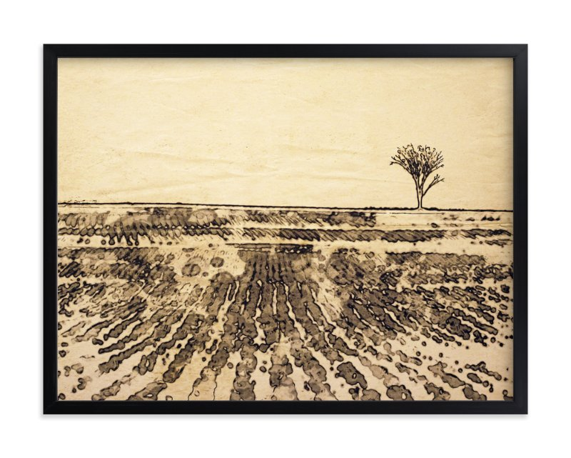 """Fanning Fields"" - Art Print by Debra Pruskowski in beautiful frame options and a variety of sizes."