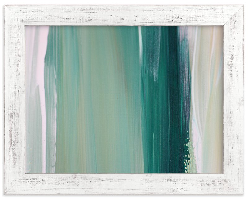 """Emerald Blades"" - Art Print by Artsy Canvas Girl Designs in beautiful frame options and a variety of sizes."