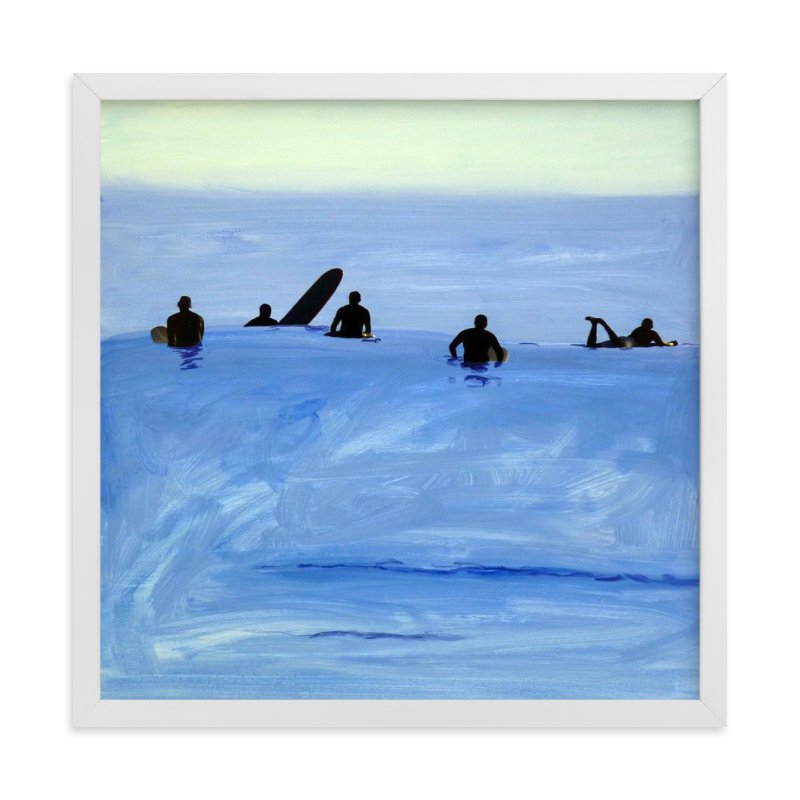 """""""Waiting For Swell, 2010"""" - Art Print by Annie Seaton in beautiful frame options and a variety of sizes."""