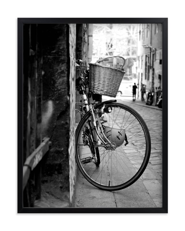 """""""Bike alley"""" - Art Print by Stylisti in beautiful frame options and a variety of sizes."""