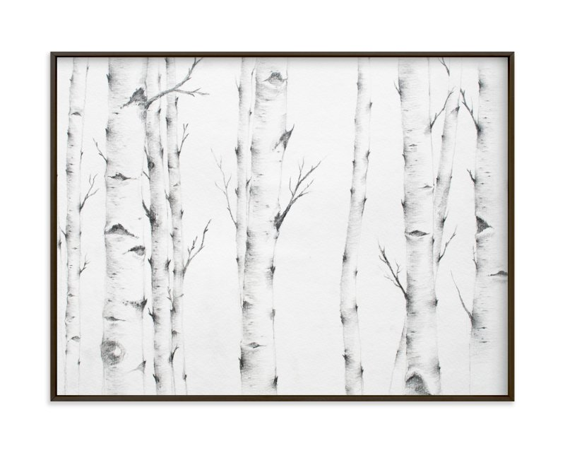 """Birch Story"" - Art Print by jinseikou in beautiful frame options and a variety of sizes."