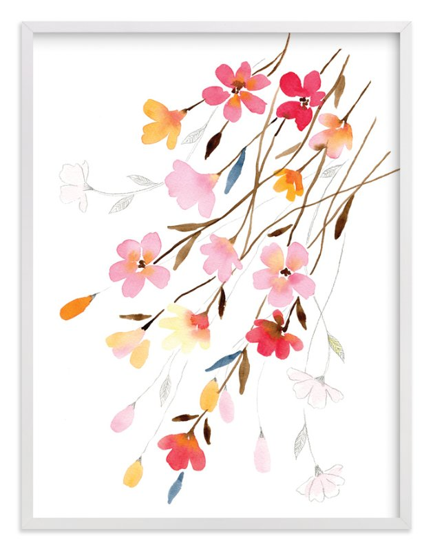 """""""Blossoming"""" - Art Print by Stephanie Ryan in beautiful frame options and a variety of sizes."""