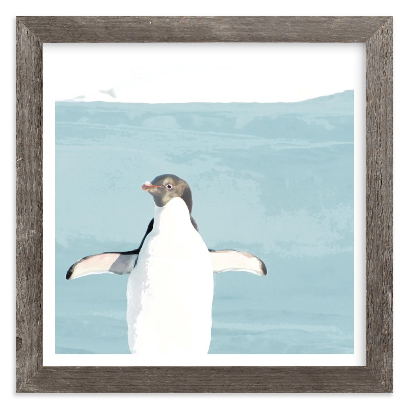 """""""Naked Penguin"""" - Art Print by Michelle Poe in beautiful frame options and a variety of sizes."""