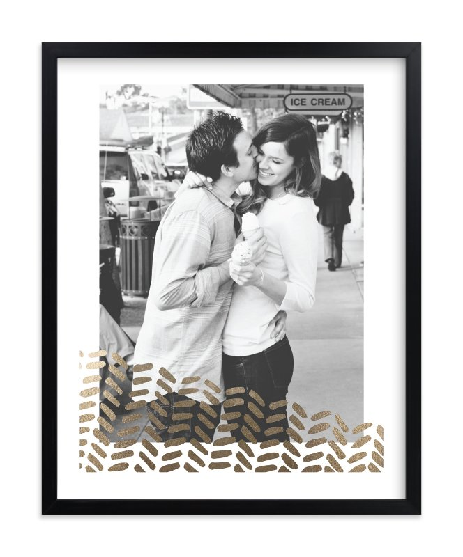 """""""Hand Painted Chevron"""" - Foil Pressed Photo Art Print by Aspacia Kusulas in beautiful frame options and a variety of sizes."""