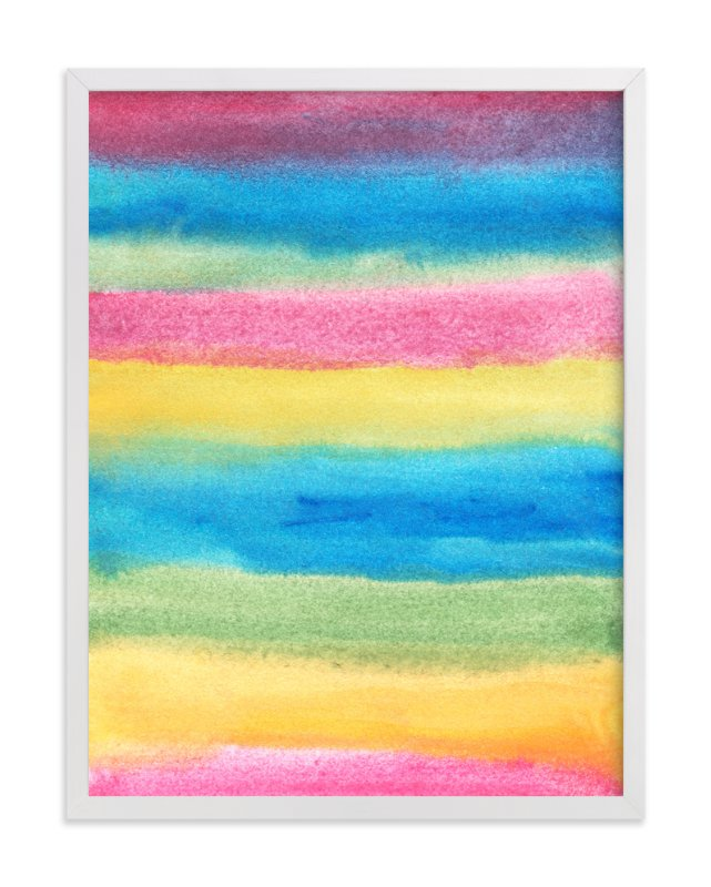 """""""painted abstract stripes1"""" - Art Print by aticnomar in beautiful frame options and a variety of sizes."""