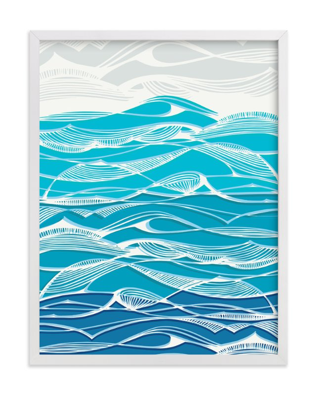 """Tempestuous Seas"" - Art Print by Gill Eggleston in beautiful frame options and a variety of sizes."