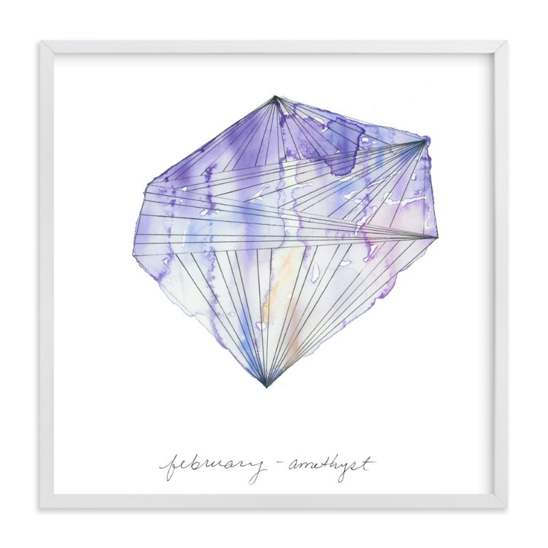 """""""February - Amethyst"""" - Art Print by Naomi Ernest in beautiful frame options and a variety of sizes."""