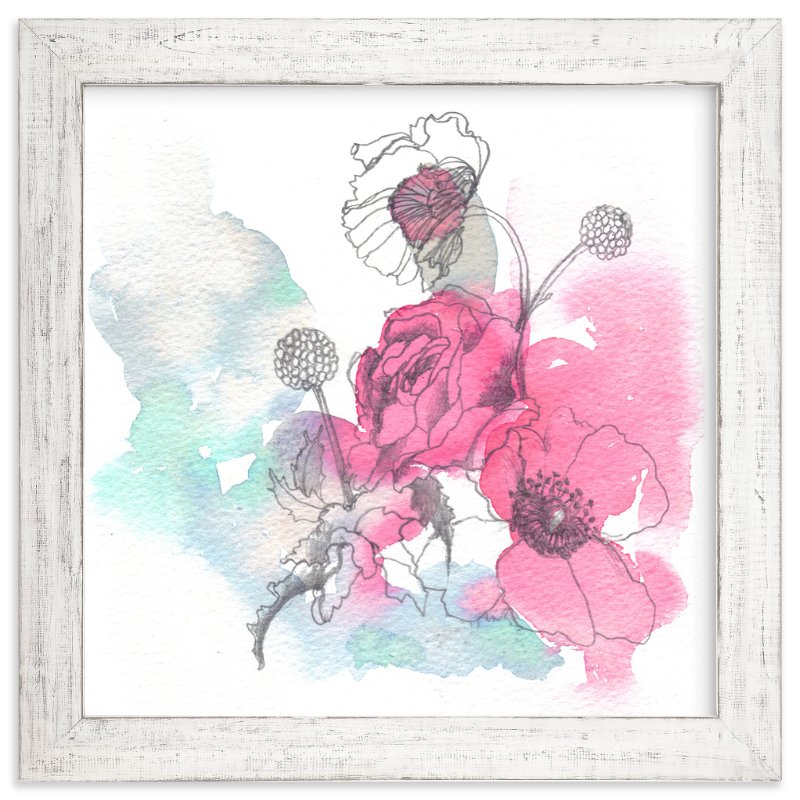 """Blush"" - Art Print by Sonal Nathwani in beautiful frame options and a variety of sizes."