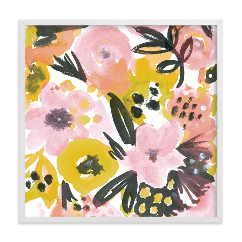 """Floral Fancy"" - Art Print by Jeanetta Gonzales in beautiful frame options and a variety of sizes."