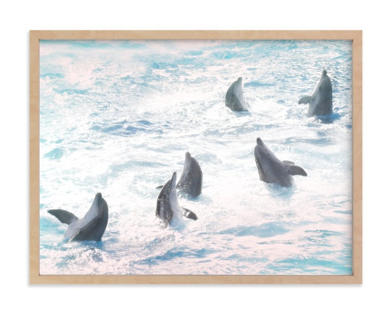 """""""Dancing dolphins"""" - Art Print by iamtanya in beautiful frame options and a variety of sizes."""