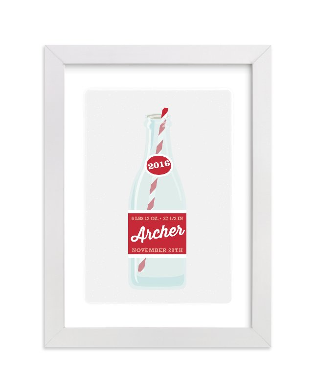 """Cool Cola"" - Children's Custom Art Print by Itsy Belle Studio in beautiful frame options and a variety of sizes."