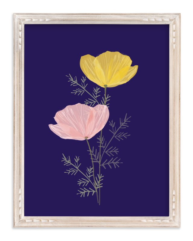 """Pressed Poppies"" - Art Print by Milk and Marrow in beautiful frame options and a variety of sizes."