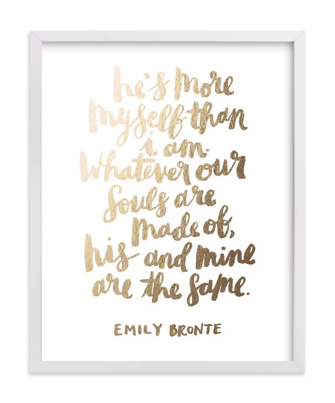"""His and Mine"" - Foil-pressed Art Print by Rachael Miller in beautiful frame options and a variety of sizes."