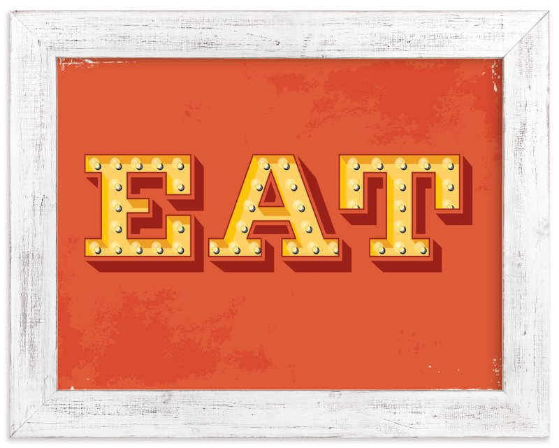 """""""EAT"""" - Art Print by Smudge Design in beautiful frame options and a variety of sizes."""