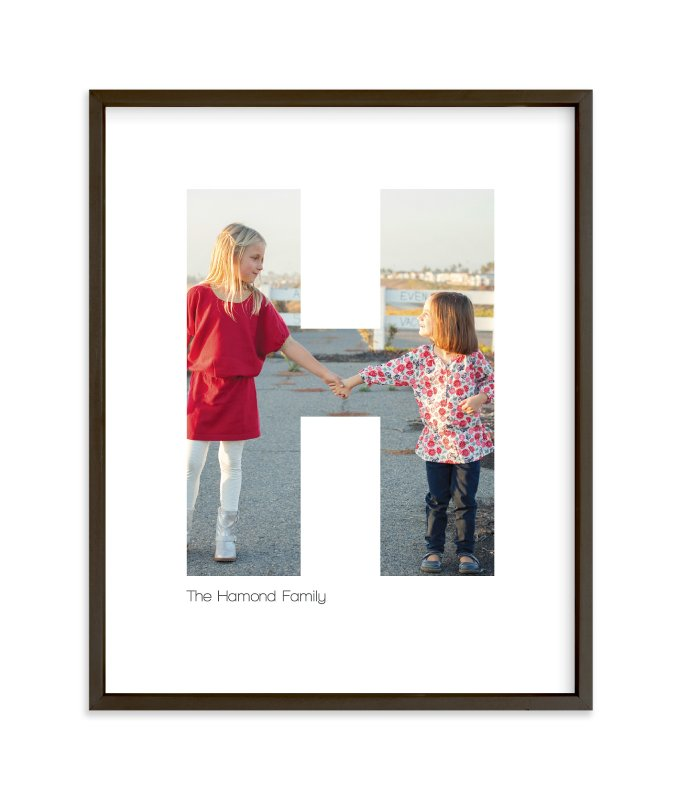 """""""H - Within Letters of You"""" - Children's Custom Photo Art Print by Heather Francisco in beautiful frame options and a variety of sizes."""
