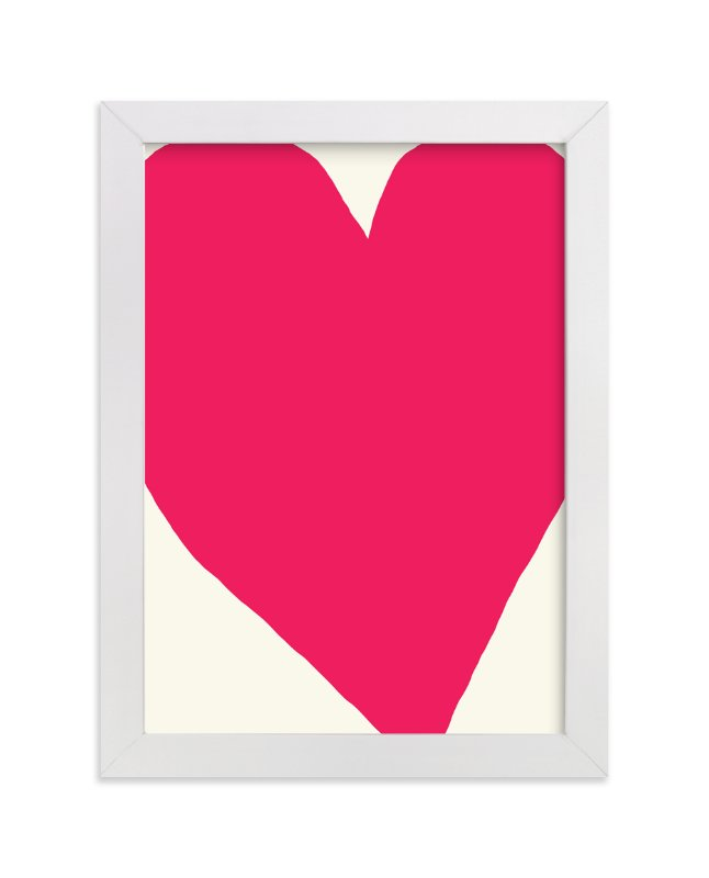 """Big Heart"" - Art Print by Jorey Hurley in beautiful frame options and a variety of sizes."