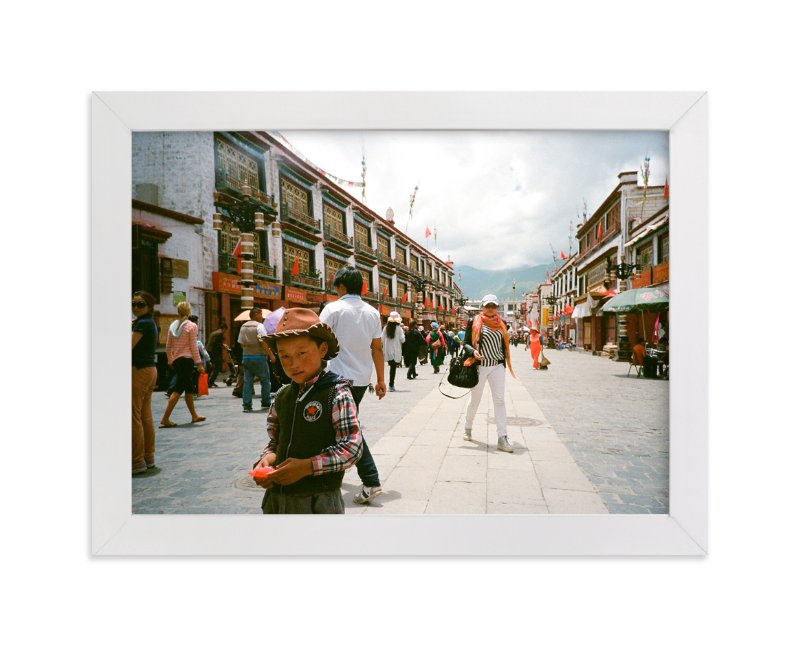 """The Tibetan Cowboy"" - Art Print by Jill Fisher in beautiful frame options and a variety of sizes."