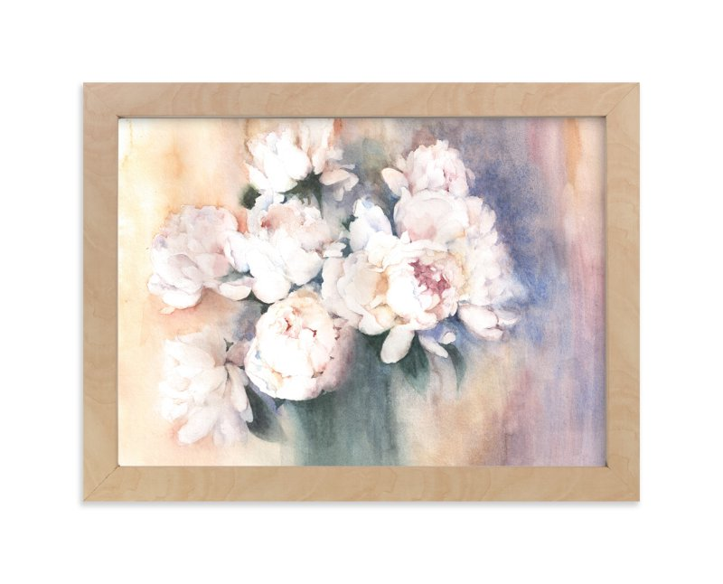 """white peonies"" - Art Print by XL in beautiful frame options and a variety of sizes."