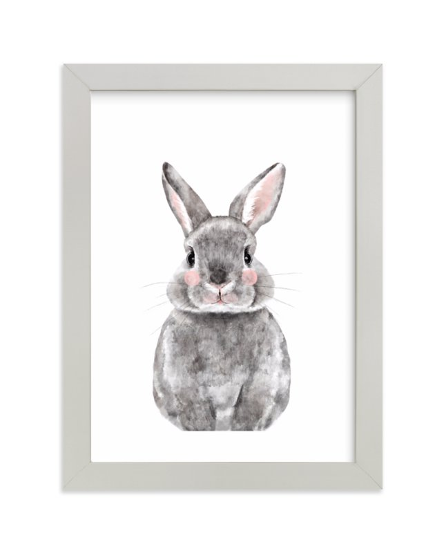 """""""Baby Animal Rabbit"""" by Cass Loh in beautiful frame options and a variety of sizes."""