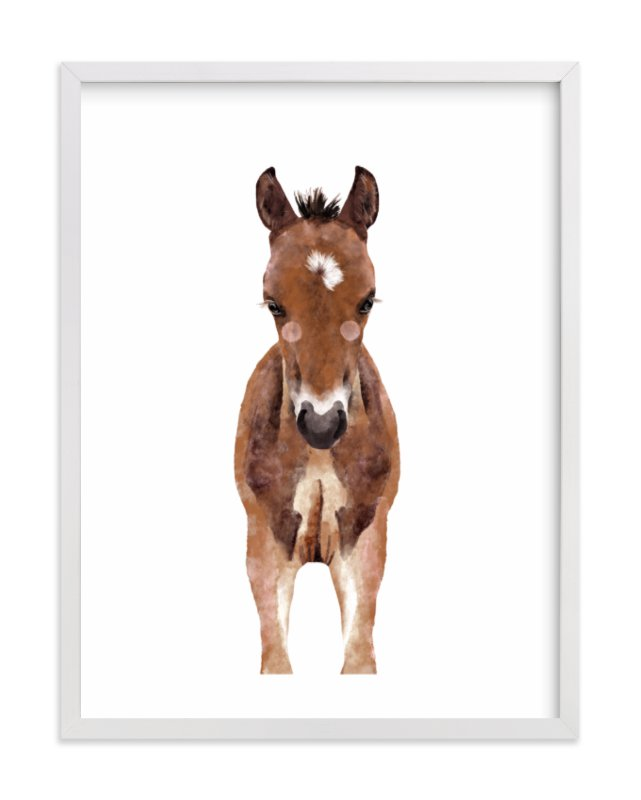 """""""Baby Animal Horse"""" by Cass Loh in beautiful frame options and a variety of sizes."""