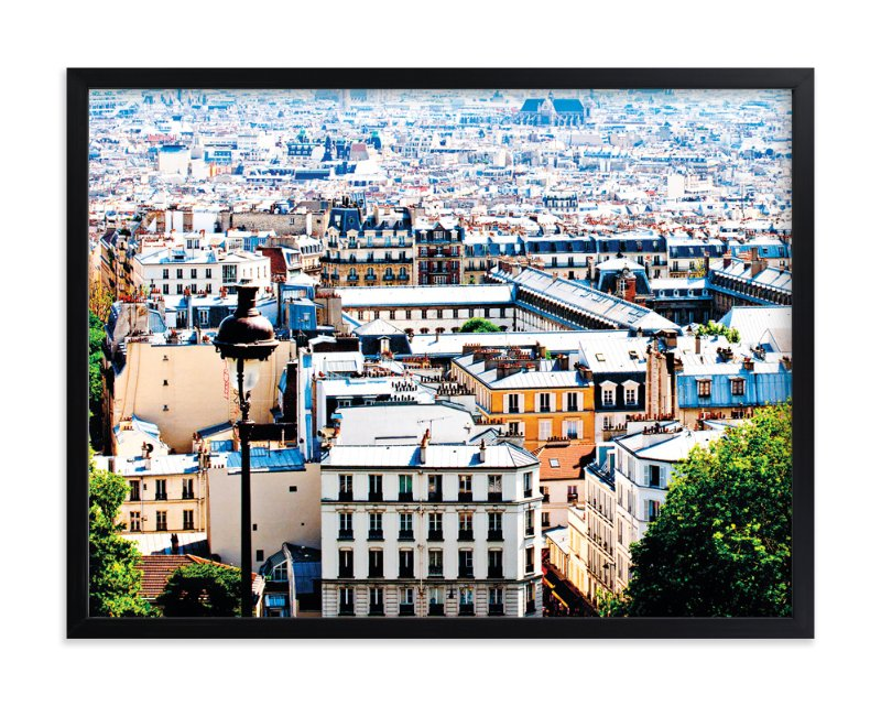 """Rooftops of Paris"" - Art Print by TS Designs in beautiful frame options and a variety of sizes."