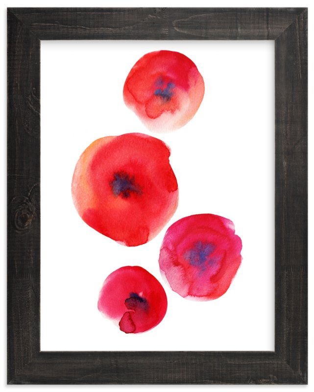 """""""Stylish red"""" - Art Print by Alexandra Dzh in beautiful frame options and a variety of sizes."""
