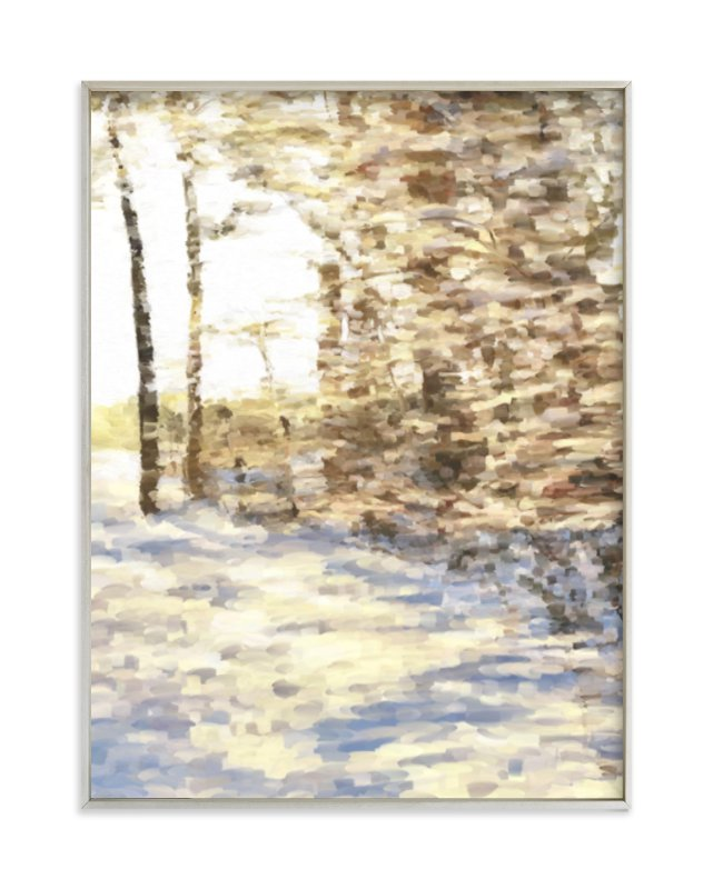 """Winter Walk"" - Limited Edition Art Print by Amy Hall in beautiful frame options and a variety of sizes."
