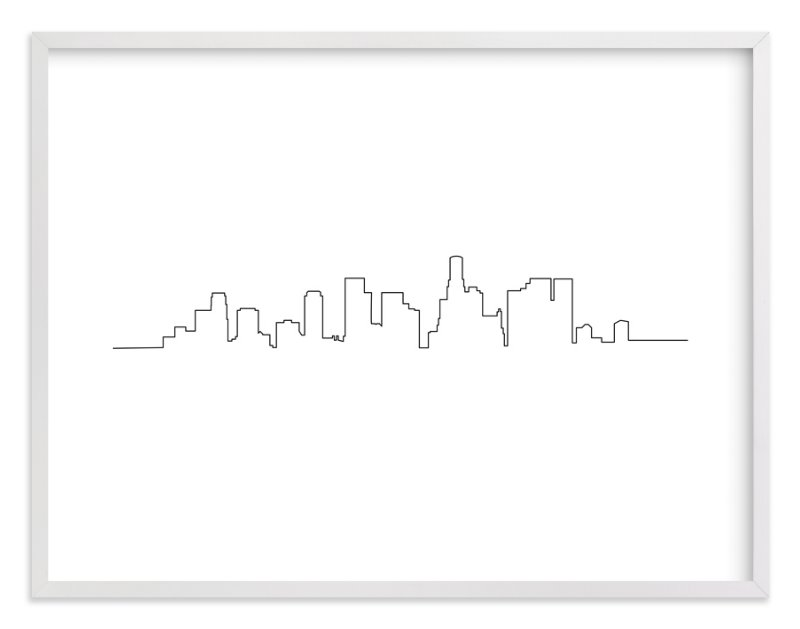 """""""Los Angeles"""" - Art Print by Erin Deegan in beautiful frame options and a variety of sizes."""