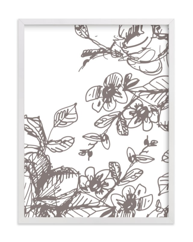 """Botanical Sketch 2"" - Art Print by Phrosne Ras in beautiful frame options and a variety of sizes."
