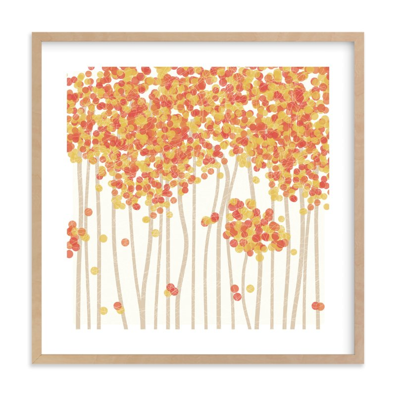 """Nature's Confetti"" - Limited Edition Art Print by Inkblot Paper in beautiful frame options and a variety of sizes."