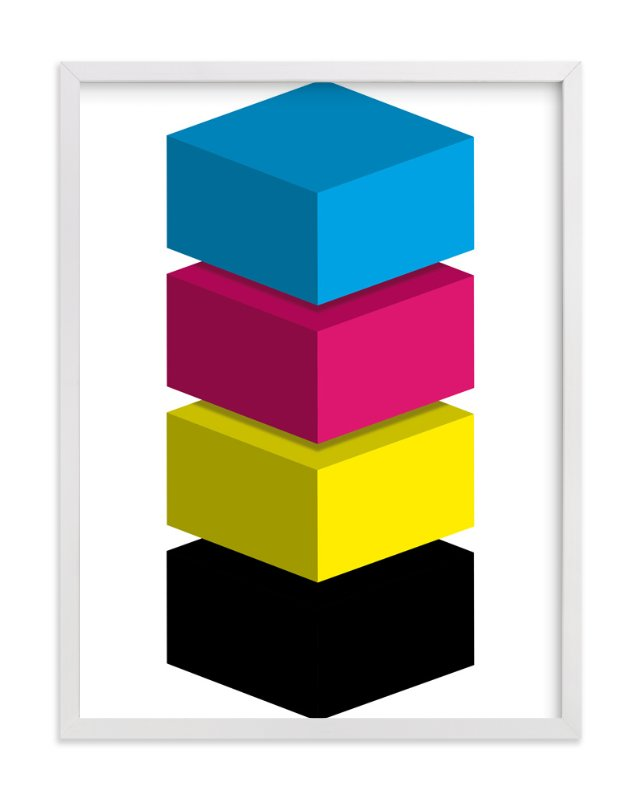 """CMYK"" - Art Print by King Richard IX in beautiful frame options and a variety of sizes."