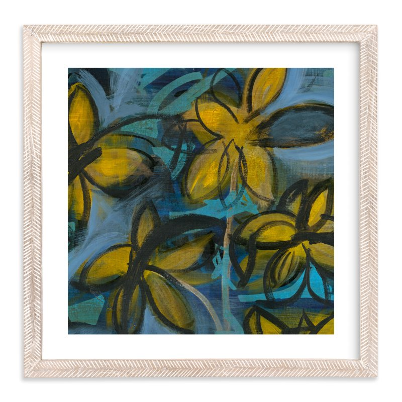 """Shining Flowers Series 1"" - Art Print by Angela Simeone in beautiful frame options and a variety of sizes."