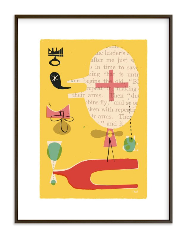 """Fun Games That Make You Laugh"" - Limited Edition Art Print by ERAY in beautiful frame options and a variety of sizes."