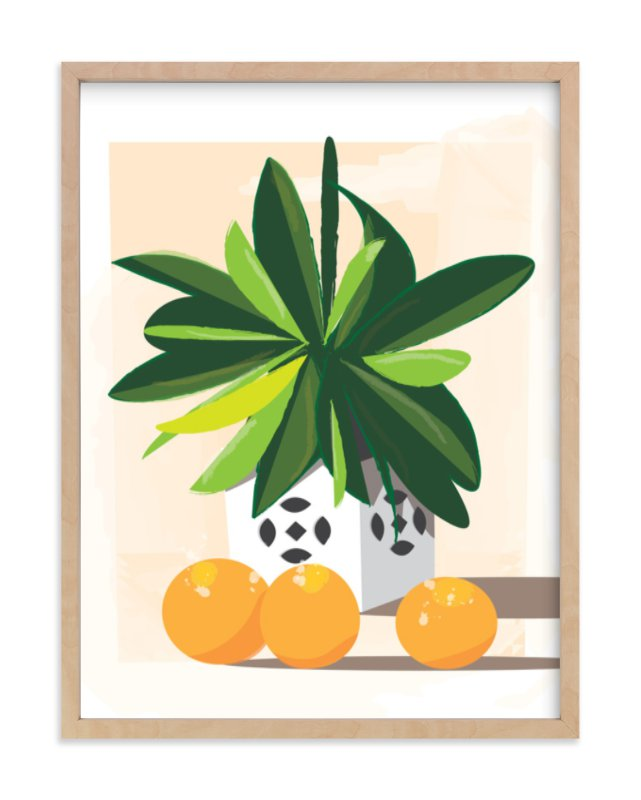 """Tropical Still Life"" - Art Print by Lindsay Megahed in beautiful frame options and a variety of sizes."
