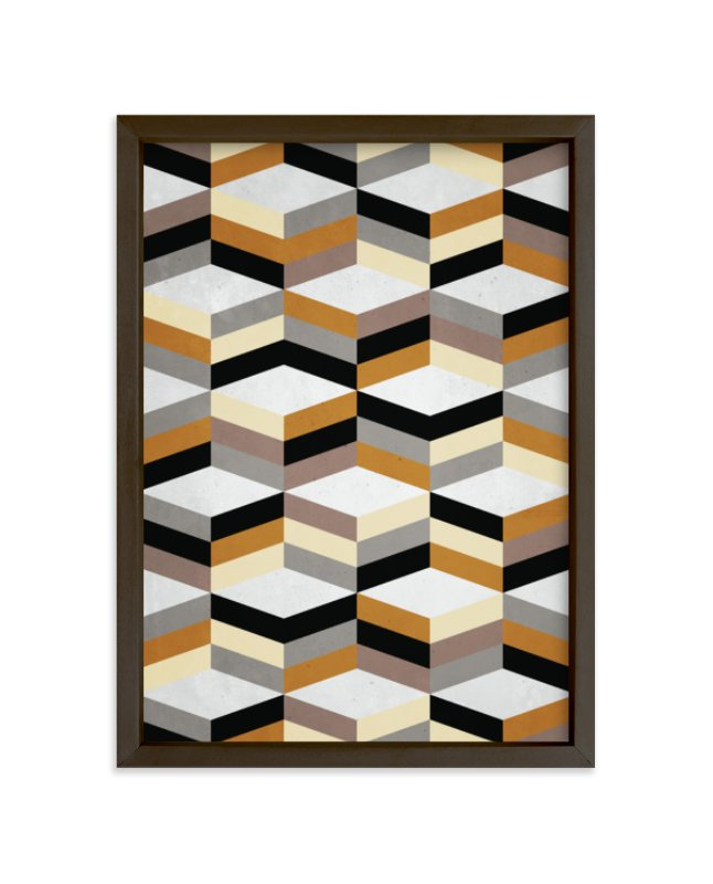 """MCMcube"" - Art Print by Three Kisses Studio in beautiful frame options and a variety of sizes."