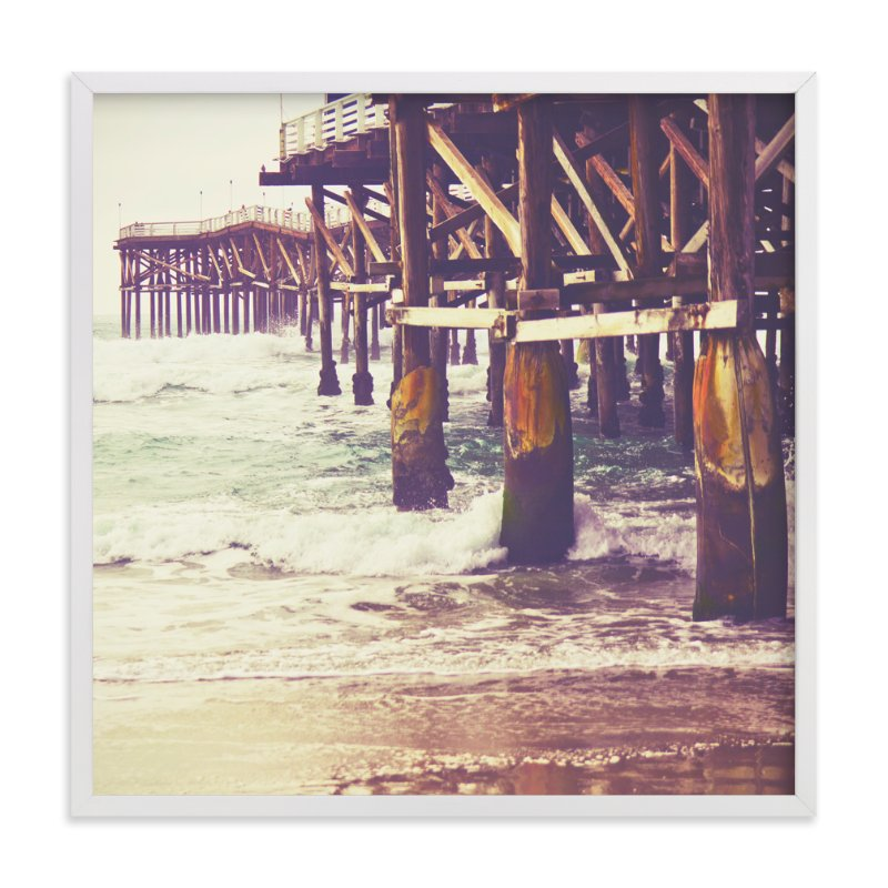 """""""Pier Perspective"""" - Art Print by Misty Diller in beautiful frame options and a variety of sizes."""