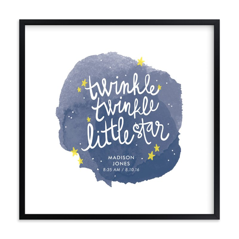 """""""Twinkle Twinkle Little Star"""" - Children's Custom Art Print by Lacie Cunningham in beautiful frame options and a variety of sizes."""