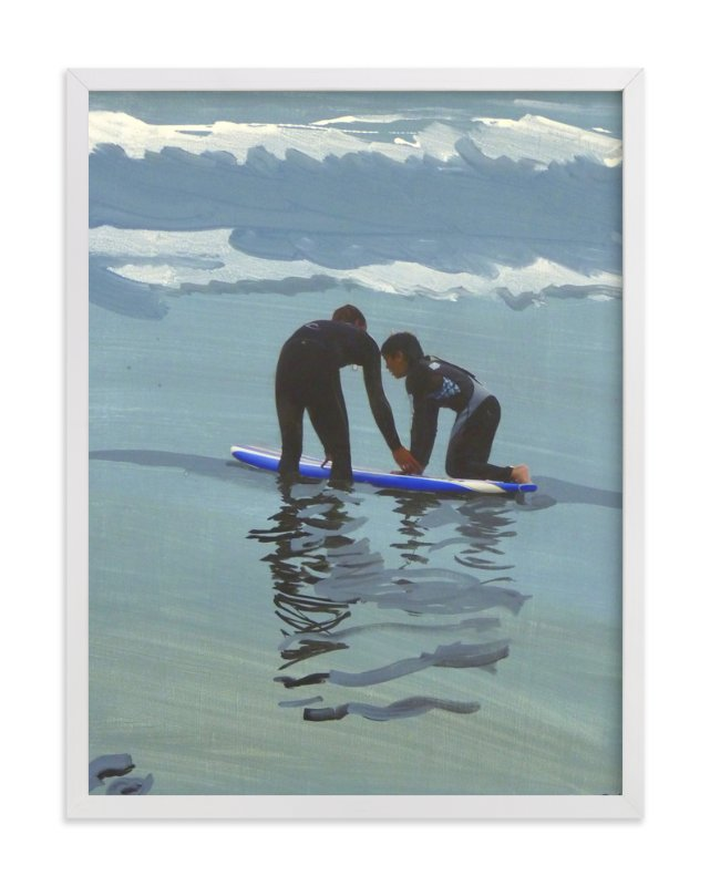 """""""Surf lesson, Venice Beach"""" - Art Print by Annie Seaton in beautiful frame options and a variety of sizes."""